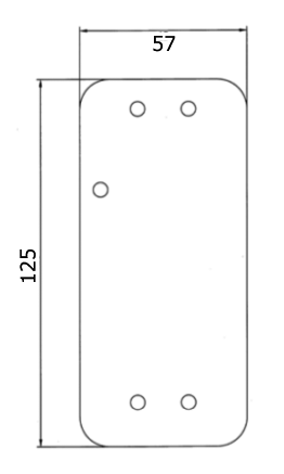 Montageplatte FH-Tür für Custos Türwächter mit Klebefolie