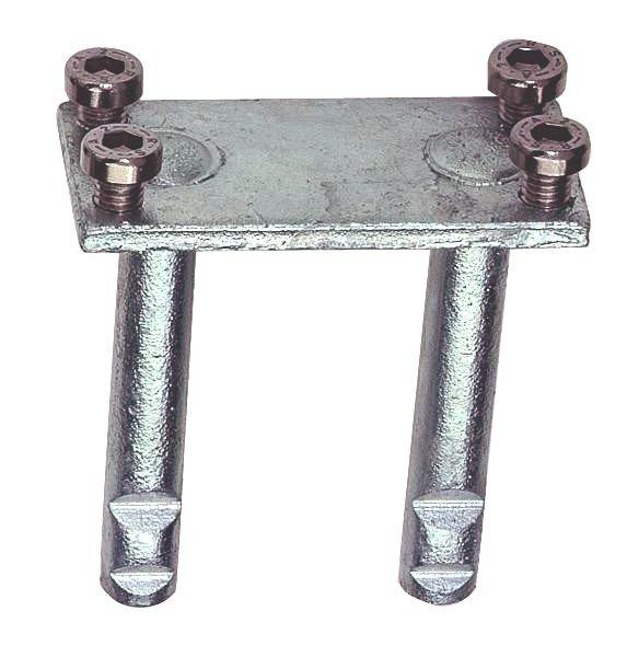 Steindolle 1508 mit 4 Schrauben aus Stahl oder Edelstahl