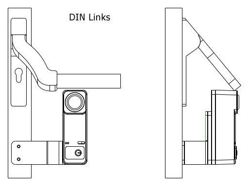 Montagewinkel Panikstange für Türwächter Custos DIN Links