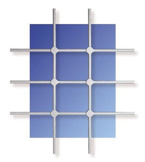 WinProtec Fenstergitter XL 120 x 140 cm Gittermaß