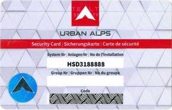 Schließungsnummer auf Stealth Key Sicherungskarten