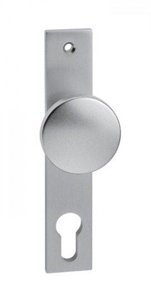 Knopf-Kurzschild Aluminium PZ 72 mm, gerader Knopf