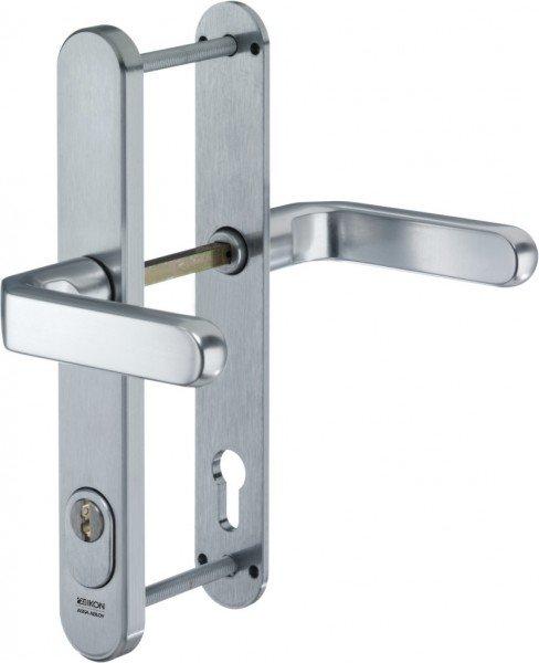 S643 Stahl-Schutzbeschlag mit Zylinderabdeckung Drücker/Drücker