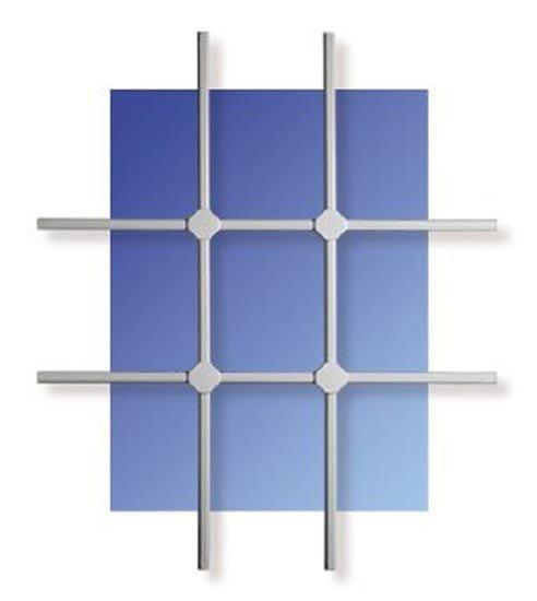 WinProtec Fenstergitter L 100 x 120 cm Gittermaß