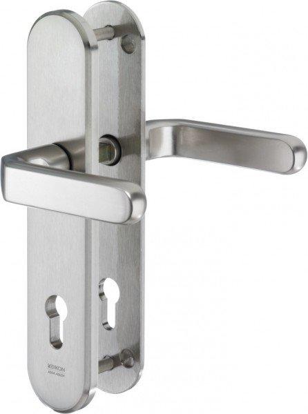 S313 Stahl-Schutzbeschlag mit Zylinderabdeckung Drücker/Drücker