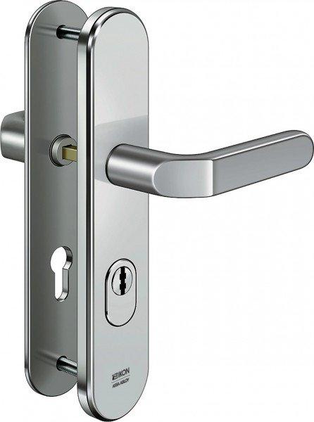 S403 Stahl-Schutzbeschlag mit Zylinderabdeckung Drücker/Drücker