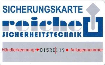Winkhaus Sicherungskarte D15RE