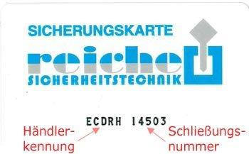 Sicherungskarte Winkhaus ECDRH