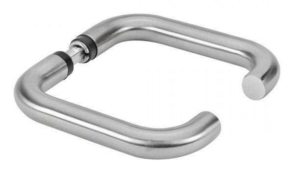 Türdrücker- Paar, U-Form, mit Drückerstift, Edelstahl rostfrei