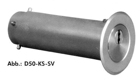 Schlüsselrohr D50-KS-SV Edelstahl rostfrei