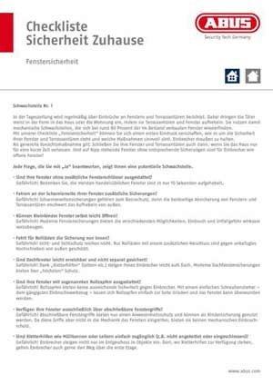 Checkliste-Fenstersicherheit