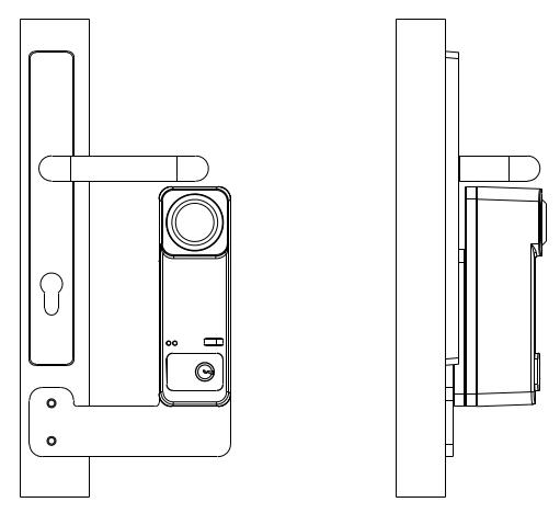Montagewinkel Rohrrahmentüren für Türwächter Custos