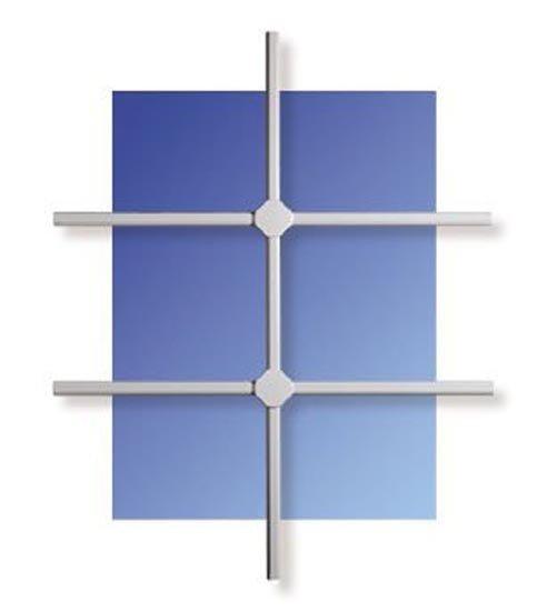 WinProtec Fenstergitter M 80 x 100 cm Gittermaß