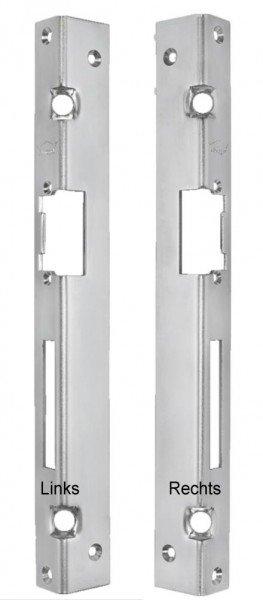 Winkelschließblech 330x25x35 mm 2 Schwerlastankern für Türöffner