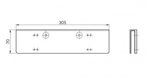 Glastürschuh für TS 92 XEA Türschließer