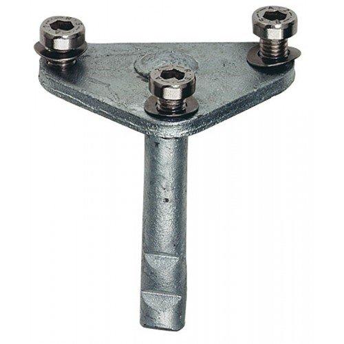 Steindolle mit 3 Schrauben aus Stahl für KWS 1049 und 1050